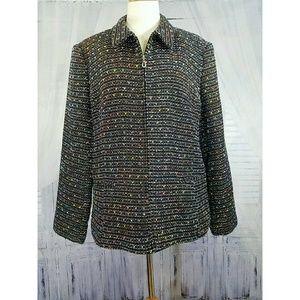 Sag Harbor tweed zip jacket size 18